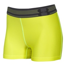 Mujer Under Armour 1270720 Heatgear Culotte 3 Neon Amarillo Shorts de Co... - $15.10