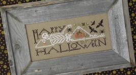 Chillin' halloween cross stitch chart Drawn Thread - $9.00