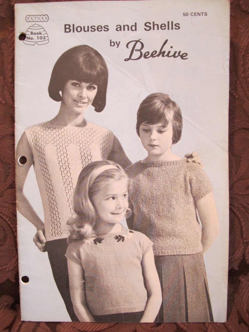 Vintage Paton Knitting Crochet Crocheting Patterns Blouses Shells Sweater FAMILY