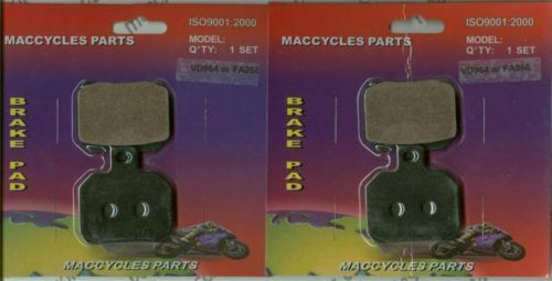 Piaggio Vespa Disc Brake Pads X9 200 2002-2004 Front (2 sets)