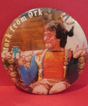 MORK From ORK ROBIN WILLIAMS Pinback Button Souvenir Lapel Pin VINTAGE C... - $19.99