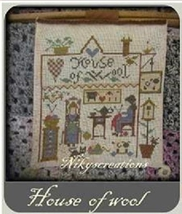 House of Wool cross stitch chart Niky's Creations - $12.60