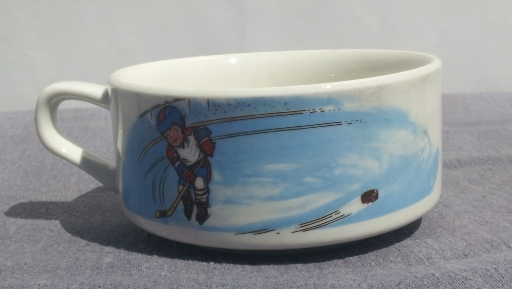 Campbell Kids Soup Bowls -- Winter Themed -- Hockey