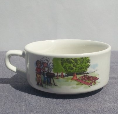 Campbell Kids Soup Bowls -- Summer Themed -- The BBQ
