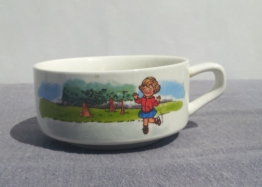 Vintage Campbell Soup Kids Soup Bowl - Hop Scotch Theme