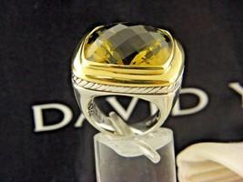 David Yurman 20 X 20 Albion Olive Citrine Ring Sterling Silver &18K Gold. - $970.20