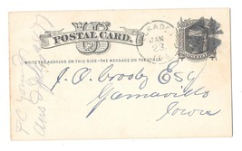 Scott UX5 Elkader IA Iowa 1877 to Garnavillo Fancy Cork Cancel Geometric Wedges - $9.95