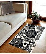 TreeWool, Oriental Bloom Accent Cotton Flat Weave Rectangular Area Rug w... - $19.99
