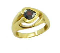 adorable Ruby cz Gold Plated Red Ring gemstone US 6,7,8,9 - $9.99