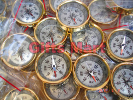 Wholesale LOT OF 25 Pcs BRASS COMPASS FOR KEY CHAIN NAUTICAL MARINE KeyC... - $49.00