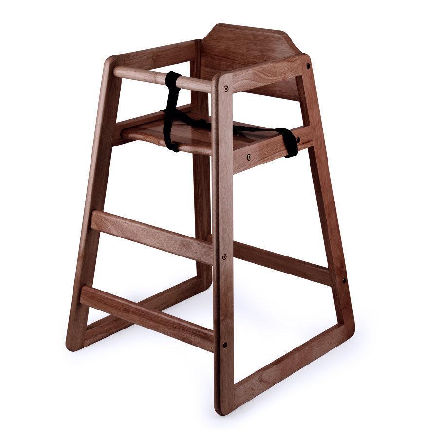 New Restaurant Style Wooden High Chair  --    Assembled - $31.99