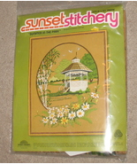 Sunset Stitchery Summer In The Park Crewel NeedleworK - $9.99