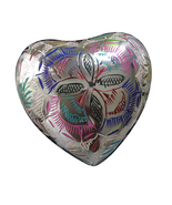 Heart Shape Memorial Urns Ashes - Lattice Floral Heart Keepsake Urn With... - $55.30
