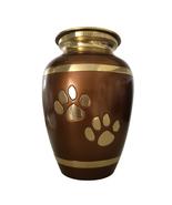 Pet Paw Print Memorial Urns Ashes - Walking Paw Prints Brown Pet Cremati... - $149.76
