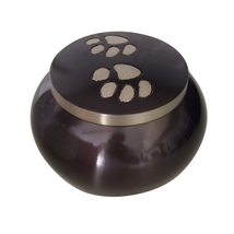 Paw Memorial Urns Ashes For Pets - Classic Round Paw Print Pet Cremation Urn - $65.28