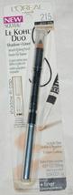 L'Oreal Le Kohl Dual Eyeliner, Black and Vanilla 215 eyeshadow, full siz... - $7.99