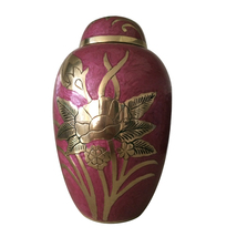 Large Size Adult Funeral Memorial Urn For Ashes - Emerald Rose Cremation Urn USA - $239.04