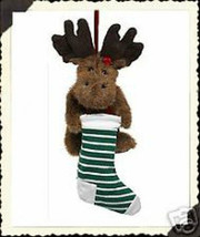"Boyds Bears ""Mooselsox""   6.5"" Plush Moose Ornament- #562456.-  NWT- Retired - $12.99"