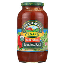 Walnut Acres Organic Sauces - Tomato and Basil - Case of 12 - 25.5 Fl oz. - $129.58