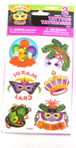 Mardi Gras Party Masquerade Carnival Temporary Tattoos Mask Tattoo - $1.89