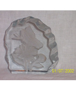 Heavy etched glass paperweight  - $7.99