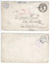 Famous Stamp Dealer E F Gambs San Francisco - Cleveland REGISTERED 1905 ... - $13.99