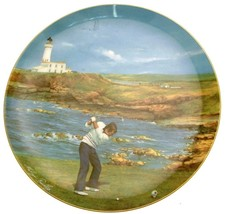 Coalport Golfing Classics Turnberry plate Melvyn Buckley LE of 10000 CP2279 - $63.91