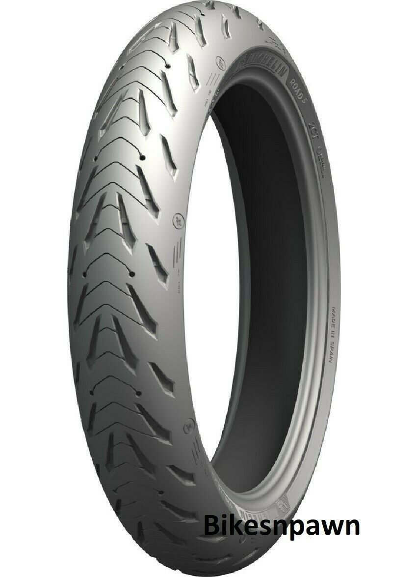 New Michelin Road 5 with 2CT+ 120/60ZR17 Front Radial Motorcycle Tire 55W 99303