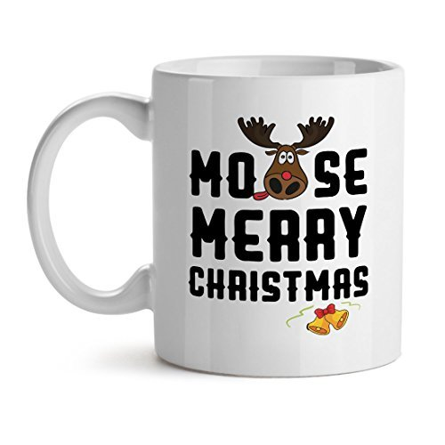 Primary image for Moose Merry Christmas - Mad Over Mugs - Inspirational Unique Popular Office Tea