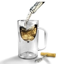 Stein, Winestein Double Walled Strong Borosilicate Mug Glass Beer Stein - £20.61 GBP