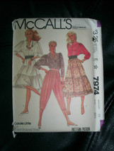 Vintage Carole Little St Tropez Pattern McCall's #7974 Uncut Tiered Skir... - $12.86
