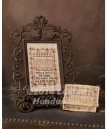 Miniature Reproduction Sampler cross stitch chart Cherished Stitches - $10.80