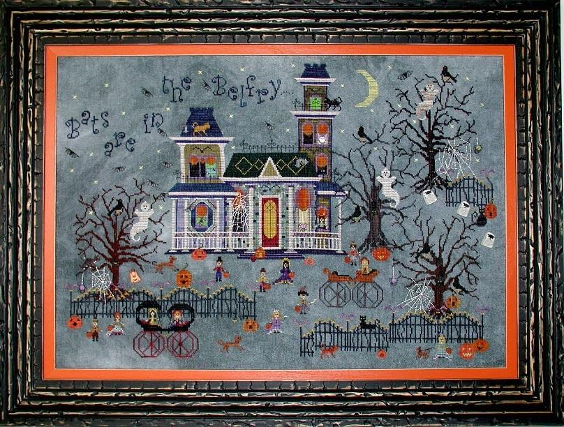 Darkwing Manor halloween cross stitch chart Praiseworthy Stitches - $12.60