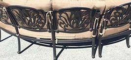 Patio Sofa 3pc Deep Seating Circular Bench Elisabeth Outdoor Furniture Aluminum image 3