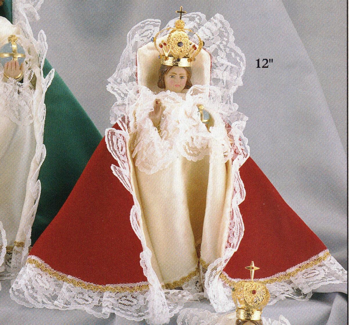 Infant of prague 12 inch red velvet mc statue