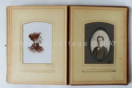 1800s antique PHOTOGRAPH ALBUM family WALKER VERBECK HACKEDORN mansfield oh - $124.95