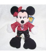Disney Rock 'n Roll MINNIE MOUSE Bean Bag Plush NEW WITH TAG - $11.96