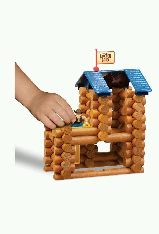 Child Play Wooden Learn Build School Lincoln Log Horseshoe Hill Station Block
