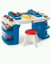 Childs Activity Table Desk Paint Board Draw Wor... - $131.82