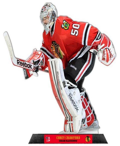 Corey crawford chicago blackhawks standz table top for Table 52 chicago reviews