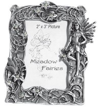 Pewter Fairy Magic Lillies Picture Frame - $13.75