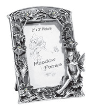 Pewter Sitting Fairy Poppy Picture Frame - $13.75
