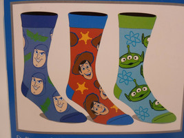 Toy Story Disney Crew Socks 3 Pair Pack Men's Shoe Size 8 to 12 - $11.49