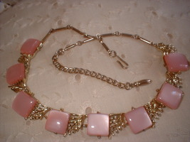 Pink plastic chiclet necklace best thumb200
