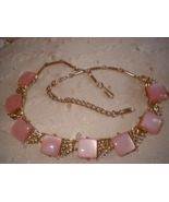 """Vintage Thermoset Pink Necklace Marked """"CORO"""" - $18.00"""