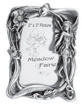 Pewter Standing Poppy Fairy Picture Frame - $13.75