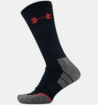 Under Armour men's UA All Season Wool Boot Socks 2 Pairs Black Size Medi... - $36.14