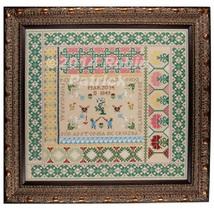 Antonia de Cruzba reproduction sampler cross stitch chart Threads Of Memory   - $18.00