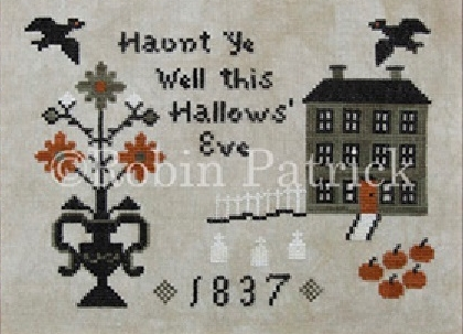 Haunted Hill halloween cross stitch chart Threads Of Memory