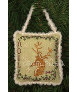 Noel 2014 christmas ornament cross stitch chart Threads Of Memory   - $6.30